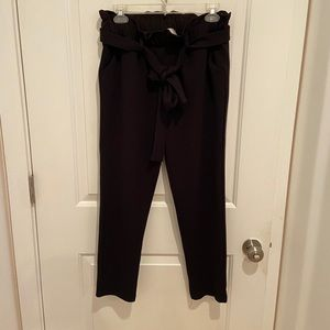 High waist tie pant